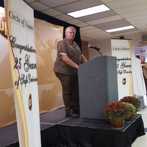Glenn Peterson speaks on his commitment to safe driving for 25 years.