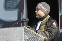 Local 710 Business Agent Mike Ramirez discussing the strike thus far.