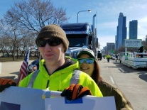 Cassie Fleener and Mark Mori in the St. Patrick's Day Parade