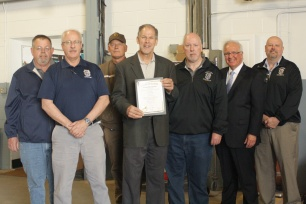 Tom Winke joined by fellow 710 members and Illinois Senator Pat McGuire
