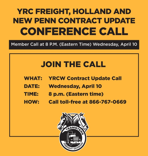 YRC / Holland Contract Update Conference Call – The Online
